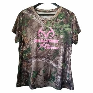 Realtree women's camouflage t-shirts pink graphic